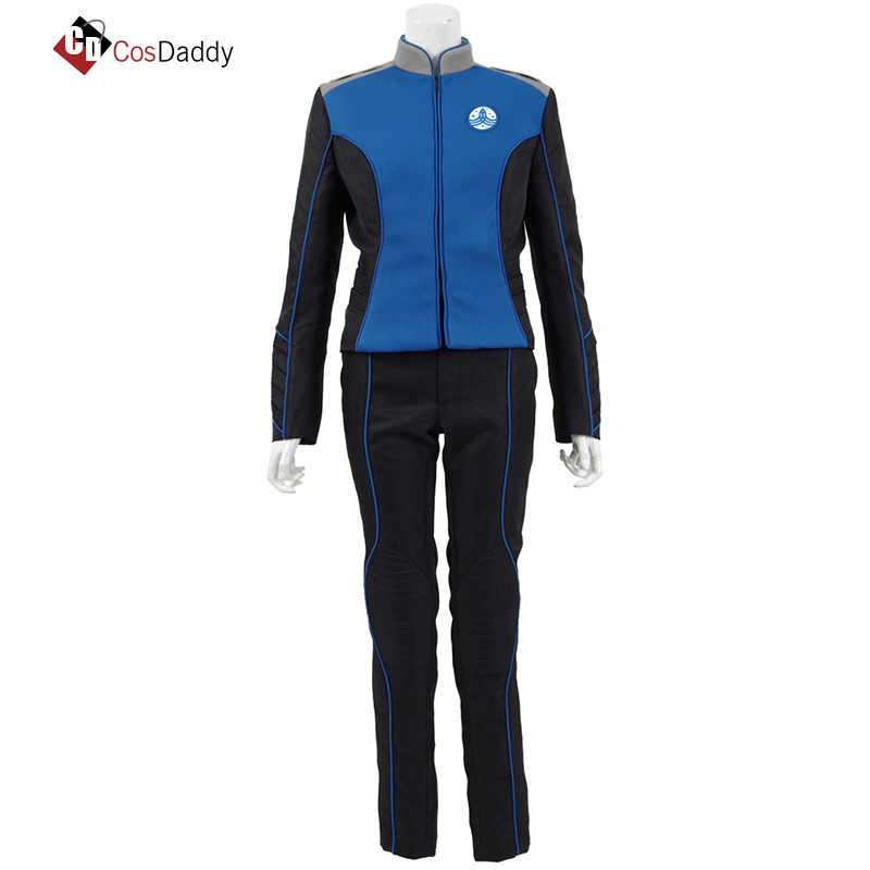 The Orville Cosplay Costume men Ed Mercer Lt Commander Bortus women KellyGrayson Blue clothes Uniform CosDaddy