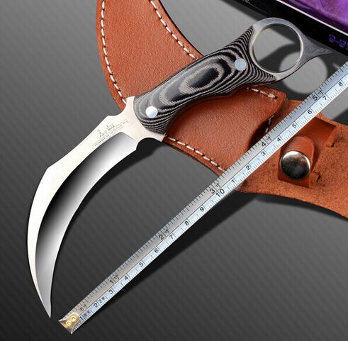 High hardness 58HRC Hibben claw Karambit Knife handmade hunting knives  tactical survival pocket fixed knife camping EDC Tools<br><br>Aliexpress