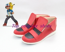 Pocket Monsters XY Ash Ketchum new come cos Cosplay Shoes Boots shoe boot   #NT05 Halloween Christmas
