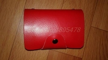 100PCS/lot Fashion Tracking service PU leather card holder card case wallet Fast shipping for DHL TNT Fedex
