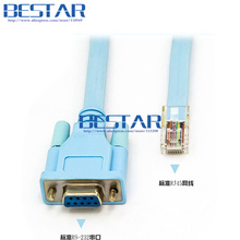 RS-232 RS 232 RS232 DB9 To RJ45 RJ-45 RJ 45 Serial Network Router Console Cable 1.8M 6FT For Cisco Huawei routers and switches(China)