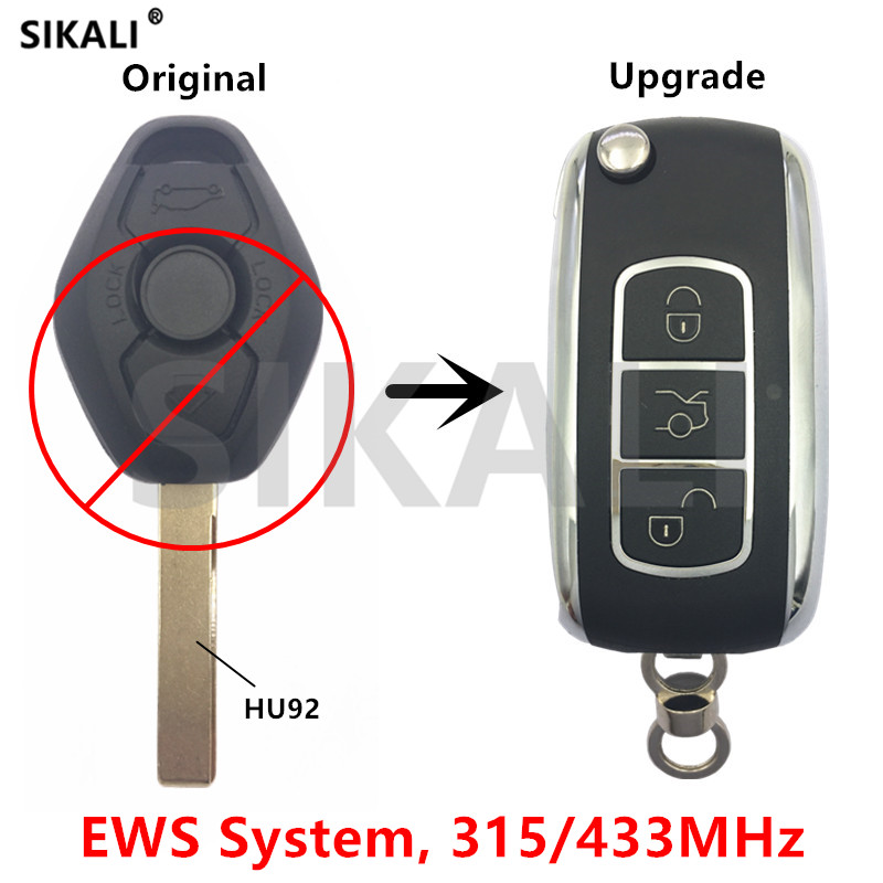 Shell Sostituzione Chiave Adatta Per Bmw 1 3 5 6 7 Serie X5 6 Z4 Chiave Remoto Intelligente