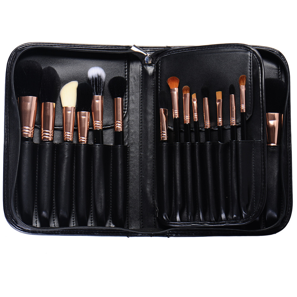 29 pcs professional makeup brushes make up tool kit foundation eyebrow high quality blending brush with case 5sets/lot (OS0518)<br>
