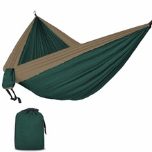 Ultra-Large 2-3 People Sleeping Parachute Hammock Chair Hamak Garden Swing Hanging Outdoor Hamacas Camping 118*78''(China)