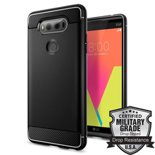 Aliantech Rugged Armor LG V20 Case Black A20CS20920 Carbon Fiber Textured Matte Flexible TPU Cases for LG V20(China)