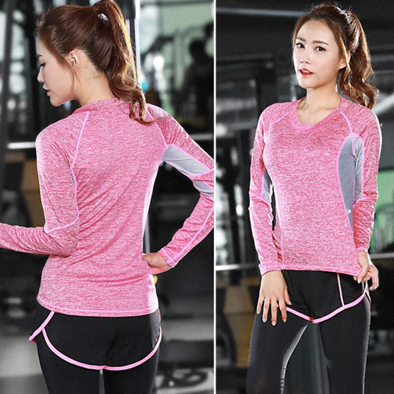 Lumier Professional Yoga Shirt Long Sleeve 9 Types Autumn Fied Quick Drying Running Gym Sport T shirt Women Fitness Tee Top (8)