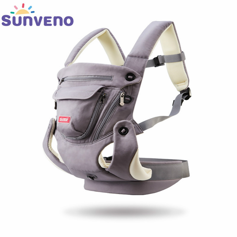 SUNVENO Ergonomic Baby Carrier Breathable Front Facing Infant Baby Sling Backpack Pouch Wrap Baby Kangaroo For Baby 0-12 Months<br>
