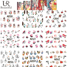 48 Sheets Chinese Style Flower Nail Sticker Water Transfer Nail Art Decals Beauty Wrap Temporary Tattoos Manicure Tool BEA241-28(China)
