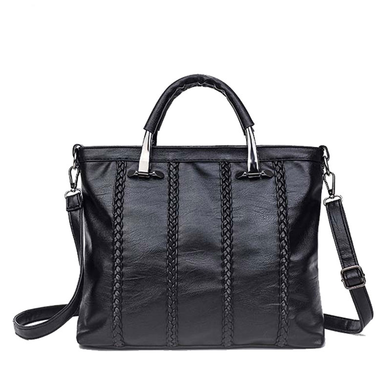 2017 New Shoulder Bags For Women Designer Vintage Knitting Handbags High Quality Ladies Casual Big Black Tote Bag Bolsa Feminina<br><br>Aliexpress