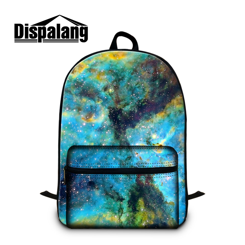 Dispalang factory direct wholesale universe stars space backpack for men best gifts personalized school book bags for teenagers(China (Mainland))