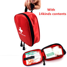 Free shipping portable military first aid kit/military survival kit,CE,FDA,ISO13485 APPROVED(24pcs contents)(China)