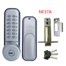 Mechanical Code Door Lock Digital Machinery Keypad Password Entry lock Stainless Steel Latch Zinc Alloy Silver L&S L17012(China)