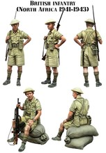 1/35 scale WW2 British soldiers in north Africa people WWII miniatures Resin Model Kit figure Free Shipping