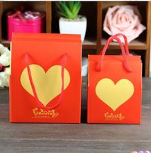 New 12*9*14cm 3 Colors Love Heart Design Lovely Handbag Wedding Candy Gift Box Wedding Party Decorations
