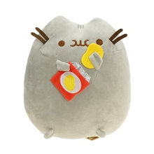 New 2017 Kawaii Brinquedos 23cm Sushi Pusheen Cat & Potato Chips Plush Animal Toys(China)