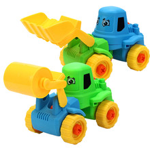 Newest 2PC Fashion Kids Child Baby Disassembly Assembly Cartoon truck Car Toy Removable Bulldozer Toys Vehicles Jouet Enfant