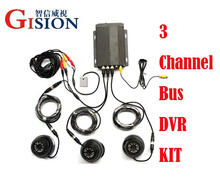 Free shipping  Car DVR Kit , 4CH Mobile DVR kit ,  H.264 digital Video Vehical DVR kit for Truck /Bus Security