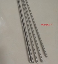 DIY Material3mm/4mm/5mm/6mm Ta2 Titanium Bars Industry Experiment Research DIY GR2 Ti Rod,about 300 mm/pc,5pcs/lot(China)