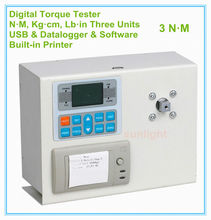 DTM-3P 3N.M Industry Digital Torque Meter 3N.M / 30.6Kg.cm / 26.6Lb.in with three measuring units and Built-in Printer(China)