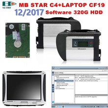 2017 For Mercedes Benz MB STAR C4 OBD2 Scanner SD C4+2017 12 software HDD+toughbook cf-19 car Diagnostic tools DHL Free Shipping(China)