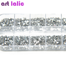 3000 Pcs 1.5mm Clear Silver Rhinestones Nail Decoration Round Glitters With Hard Case DIY Nail Art Decorations