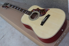 Hot sale Factory Custom 41 inch Hummingbird  20 frets rounded corner natural wood folk acoustic guitar