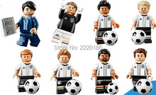 10 set Football Team Coach Goalkeeper Max Kruse Toni Kroos Benedikt Howedes Sami Khedira Mario Gotze Kids Gift Toys KL9001 DIY
