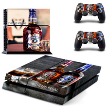 For PS4 CHIVAS REGAL Console Stickers For Sony PlayStation 4 Console System Vinyl Decal Design For DualShock 4 Controller Skins(China)