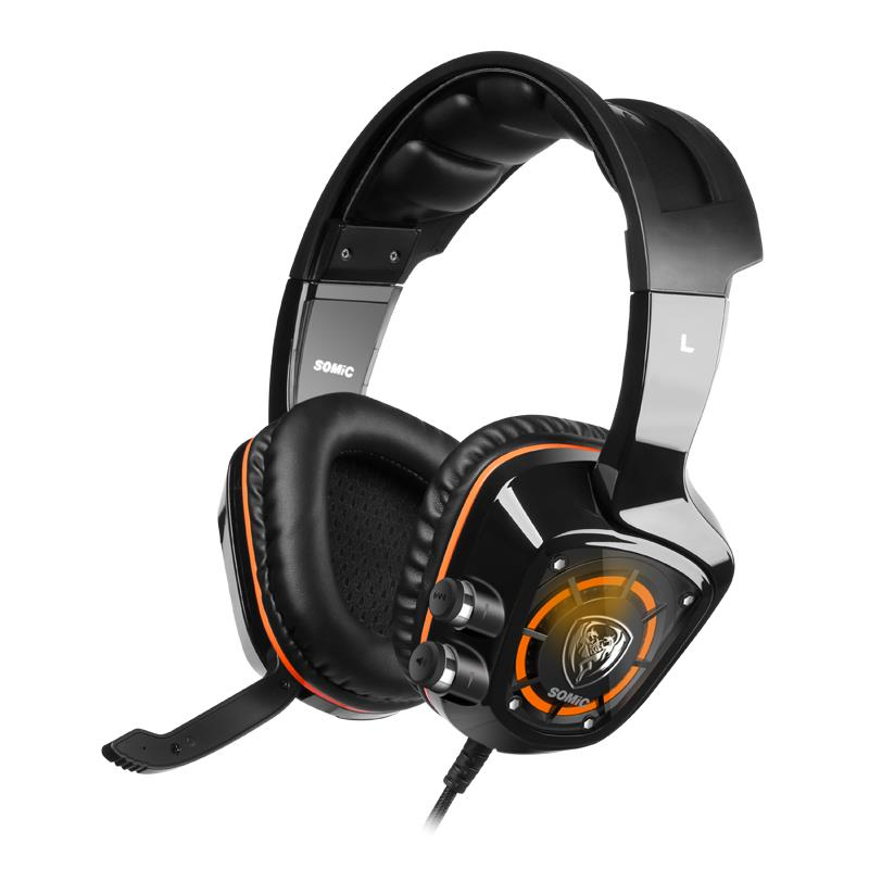 Somic G910 Headphone 7.1 Surround Sound Gaming Vibration Headset EarPhone USB with Mic PC Bass LED Stereo Laptop Tablet F18575<br>