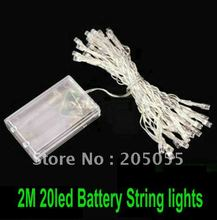 2M 20 LED Battery String Fairy light For Christmas Party wedding Garden Yard Camping Lights Battery operated -9 COLORS optional(China)