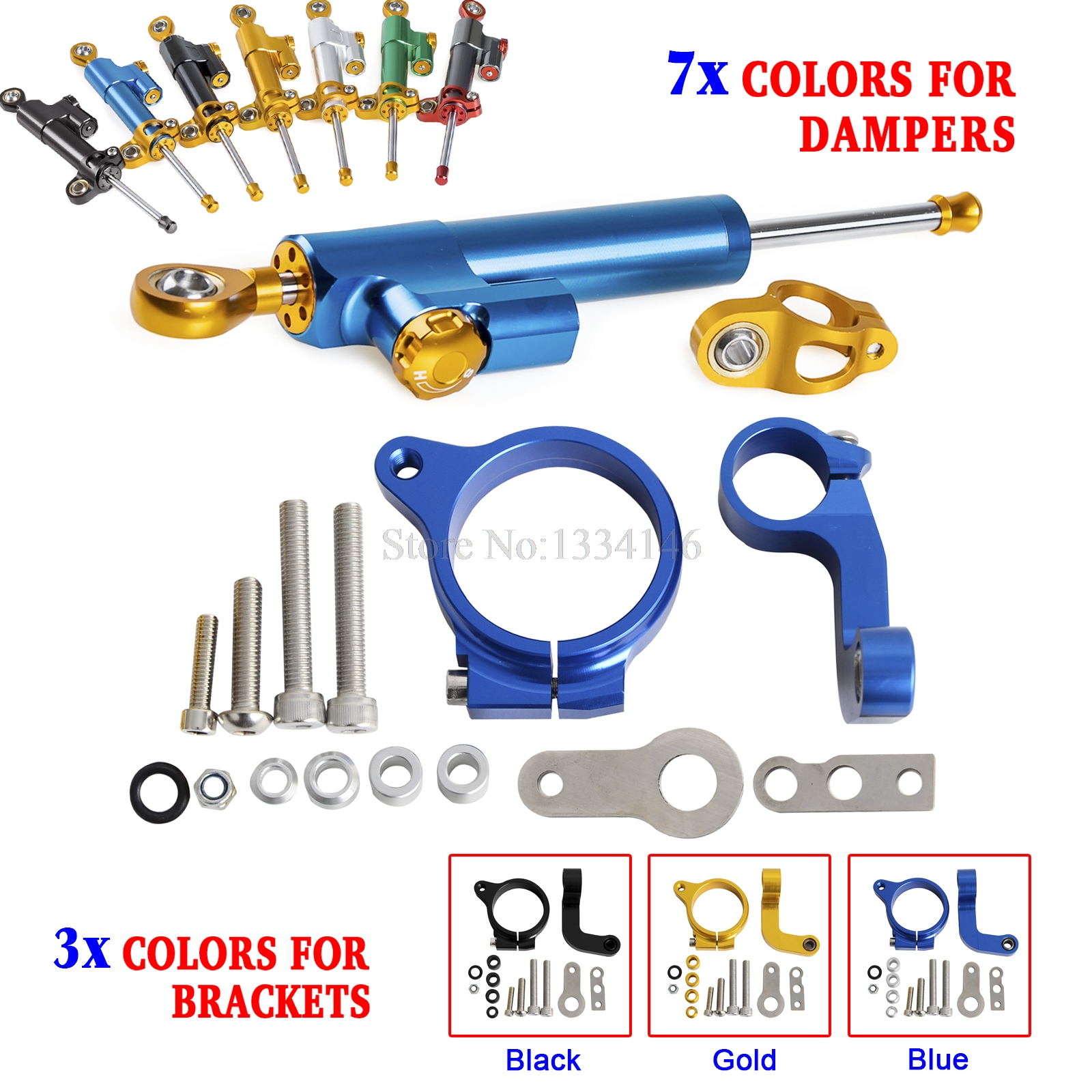 Motorcycle Stabilizer Steering Damper Mounting Bracket For BMW R1200GS LC 2013 2014 Only Water Cooled<br>