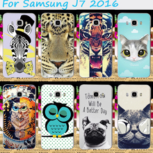 Hard Plastic Phone Cases For Samsung Galaxy J7 2016 J710 J7108 J7109 Phone Shell Fashionable DIY Pictures Mobile Phone Cover
