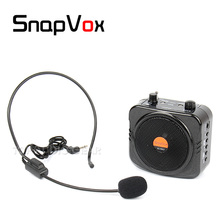 Free Shipping Portable Voice Amplifier Headset Headworn Mic Teaching Speaker Megaphone Teacher Tour Guide Loudspeaker PA System(China)