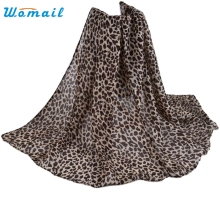 Womail Good Deal New Fashion Women Long Soft Wrap Scarf Ladies Shawl Paris Yarn Leopard Print Scarves Gift 1PC