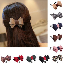 1PC New Pretty Bow Hair accessories for women Korean Ring Double Rope Elastic Hair Tie Ponytail Holder Hair rope styles headwear