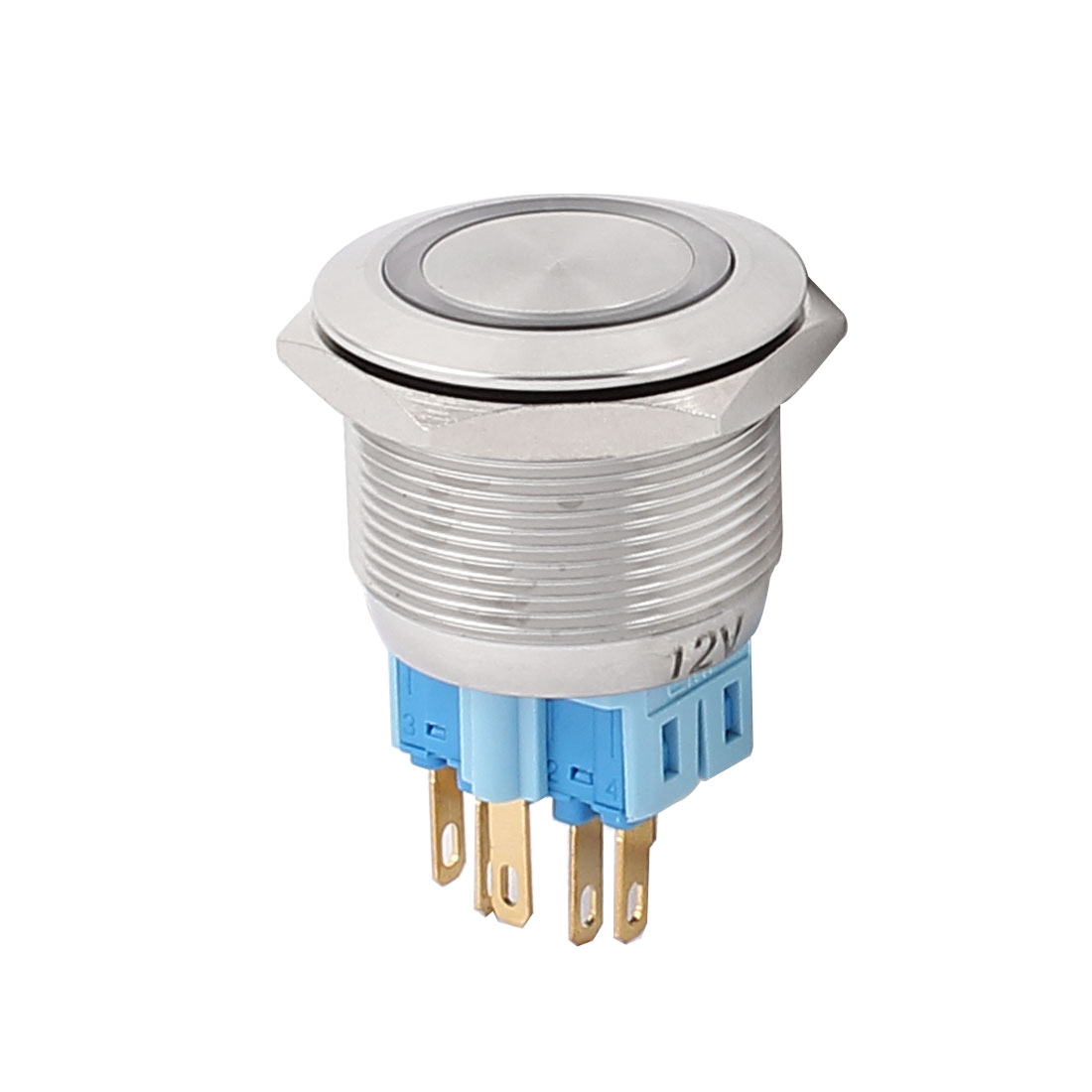 UXCELL 12V 25Mm Dia Thread White Led Angle Eyes Momentary Metal Pushbutton Switch<br><br>Aliexpress