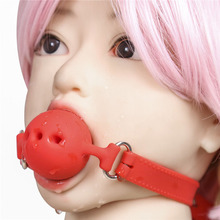 Buy BDSM Bondage Silicone Open Mouth Gag Sex Toys Couples Adult Games Slave Restraints Fetish Woman Bite Gag Ball Bdsm Tools