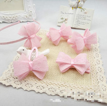 In 2016 the new tire Bud silk bow hair covered 5 times pink series of children's jewelry set A small gift for children