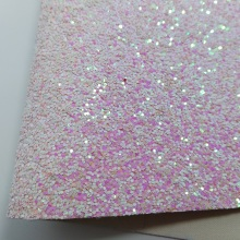 2PCS 21x29cm WHITE AND PINK Chunky Glitter Leather PU Leather Synthetic Leather Artificial Leather for DIY accessories 6S08A(China)