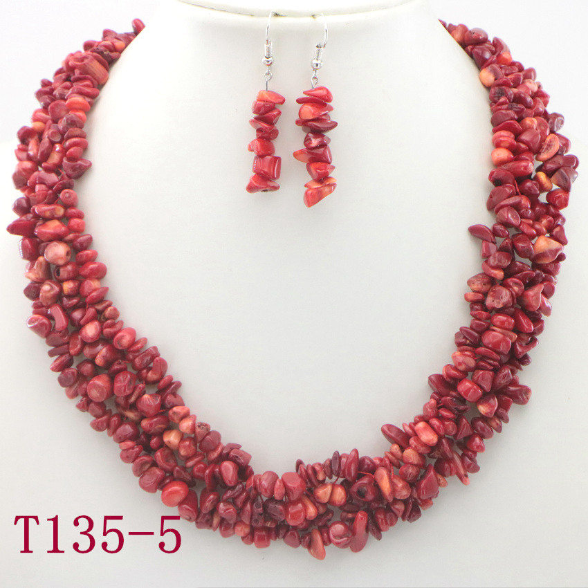 5 Natural Red Coral Necklace charms cheap silver jewelry heart necklaces for women necklace beautiful necklaces (3)