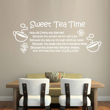 ebay/Amazon hot Love Thanksgiving quote Sweet tea time removable Wall Decor Art Vinyl Mural Decal Sticker free shipping