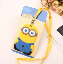 Kawaii 11*7CM Cartoon Plastic Travel Luggage Tag Holder , Cards Case Pad ; Luggage Card Case TAG , Label Name Cards TAG(China)