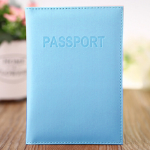 Best Selling Women & Men Fashion Faux Leather Travel Passport Holder Cover ID Card Bag Passport Wallet Protective Sleeve(China)