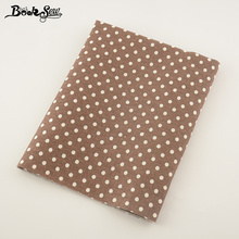 Booksew Brown Home Textile Cotton Linen Fabric Dots Design Sewing Tissu For Tablecloth Pillow Bag Curtain Cushion Decoration