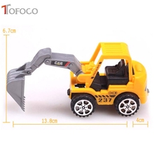 TOFOCO High Quality Pull Back Engineering Farm Agricultural Vehicles Toy Cars for Children Kid Random Pattern Shipping