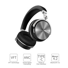 2017 New Headphone Earphones Bluedio T4S Bluetooth Headphones Headset Portable with Microphone for Music earphone(China)