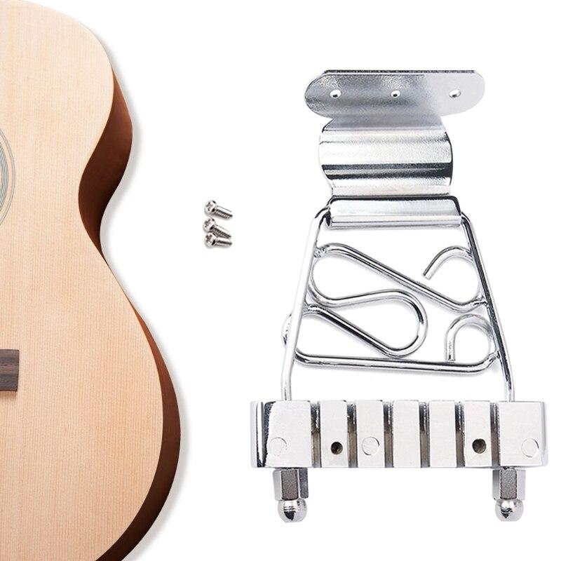 6 String Archtop Gitarre Trapez Tailpiece Brücke Chrom