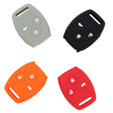 Hot silicone key cover smart car key cover for Honda 3 Button Accord CRV Civic FIT Pilot Free Shipping
