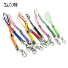 BEAUCHAMP Cell Case Lanyard Lariat Strap Cords Lobster Clasp Rope keychains Hooks Mobile Set Charms Usb Jewelry Findings Kit