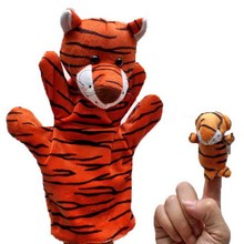 1Set Baby Family Fun Animal Finger Hand Puppet Plush Toys Cartoon Happy Kids Learning & Education Toys Gifts W20